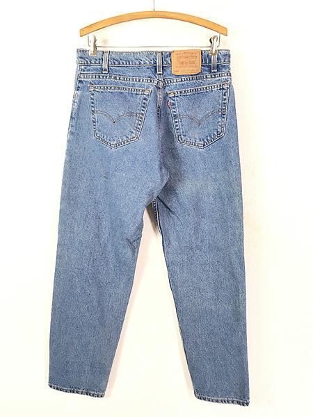[4] 古着 90s USA製 Levi's 550 ブルー デニム パンツ ジーンズ テーパード W33 L30 古着