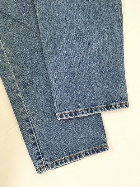 [7] 古着 90s USA製 Levi's 550 ブルー デニム パンツ ジーンズ テーパード W33 L30 古着