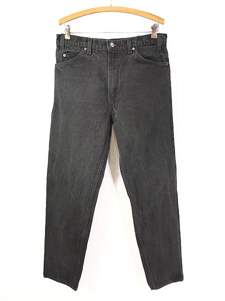 [1] 古着 90s USA製 Levi's 550 ブラック デニム パンツ ジーンズ テーパード W33 L30 古着