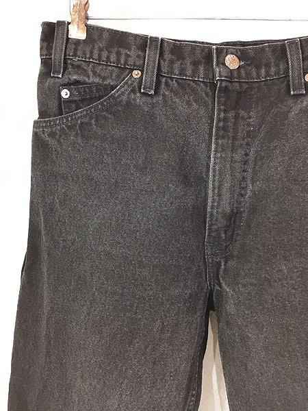 [2] 古着 90s USA製 Levi's 550 ブラック デニム パンツ ジーンズ テーパード W33 L30 古着