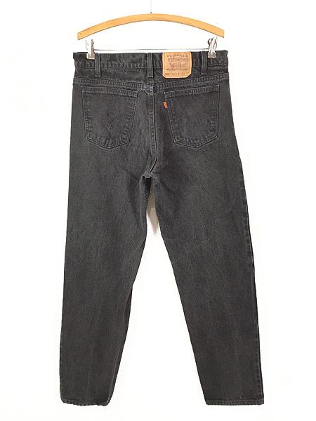 [3] 古着 90s USA製 Levi's 550 ブラック デニム パンツ ジーンズ テーパード W33 L30 古着