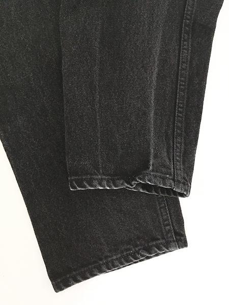 [5] 古着 90s USA製 Levi's 550 ブラック デニム パンツ ジーンズ テーパード W33 L30 古着