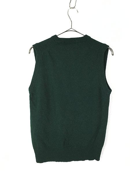 [3] 古着 80s Yves Saint Laurent サンローラン ワンポイント ウール ニット ベスト M ブランド 古着