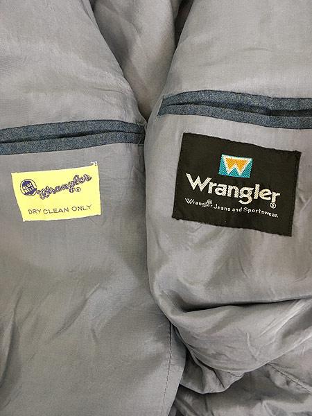 [5] 古着 70-80s Wrangler 斜めベル ウール テーラード ジャケット & ベスト & スラックス 3ピース セットアップ 古着