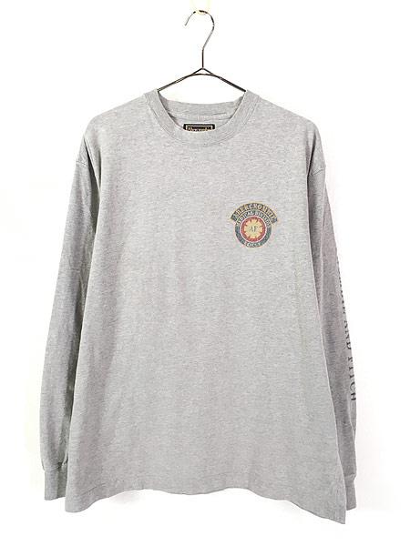 [1] 古着 90s Abercrombie&Fitch 「Medical Division」 アーム ロゴ 長袖 Tシャツ ロンT L 古着