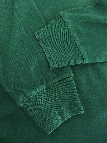 [4] 古着 80s Abercrombie&Fitch 段リブ リブ編み ヘンリーネック シャツ トップス T L 古着
