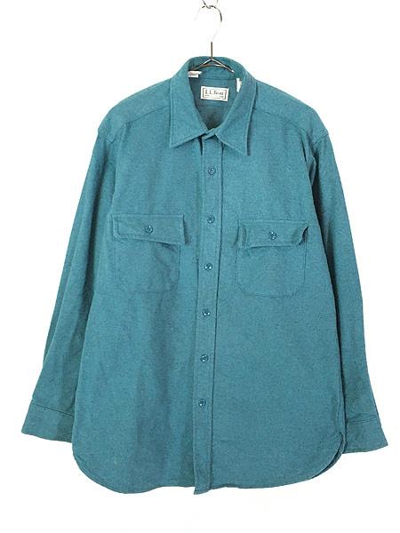 [1] 古着 90s USA製 LL Bean シャモアクロス フランネル シャツ ネルシャツ レアカラー!! 16 古着