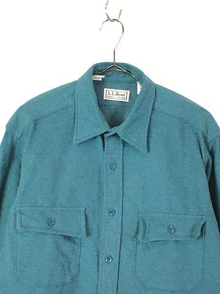 [2] 古着 90s USA製 LL Bean シャモアクロス フランネル シャツ ネルシャツ レアカラー!! 16 古着