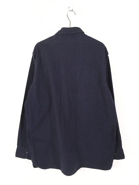 [3] 古着 70s LL Bean 筆記体タグ シャモアクロス フランネル シャツ ネルシャツ 17 1/2 古着