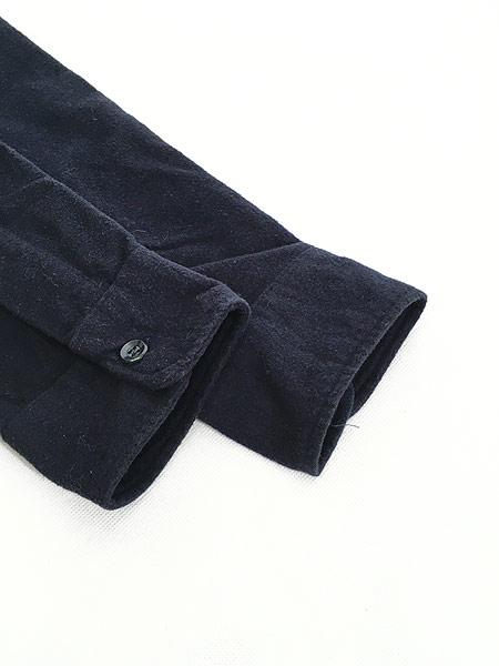 [4] 古着 70s LL Bean 筆記体タグ シャモアクロス フランネル シャツ ネルシャツ 17 1/2 古着