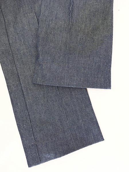 [5] 古着 70s Wrangler シンチバック シャンブレー デニム スラックス パンツ フレア W31 L32 古着
