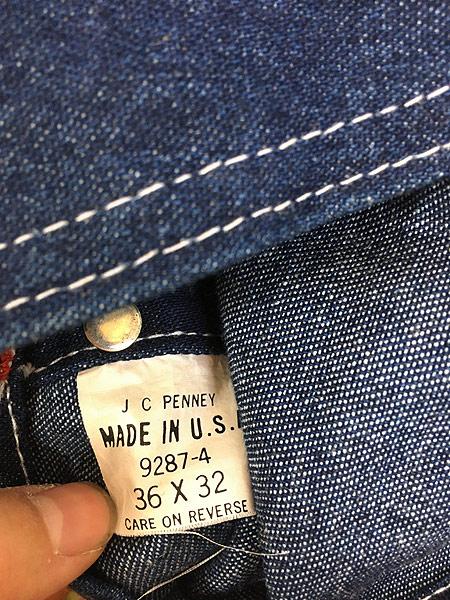 [8] 古着 80s USA製 BIG MAC 人気 エプロン付 Wニー デニム ワーク オーバーオール W36 L29.5 古着