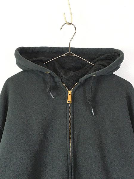 [2] 古着 00s Carhartt 「Rain Defender」 撥水 ヘビー スウェット ジップ パーカー ジャケット 黒 XL TALL 古着