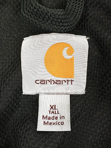 [6] 古着 00s Carhartt 「Rain Defender」 撥水 ヘビー スウェット ジップ パーカー ジャケット 黒 XL TALL 古着