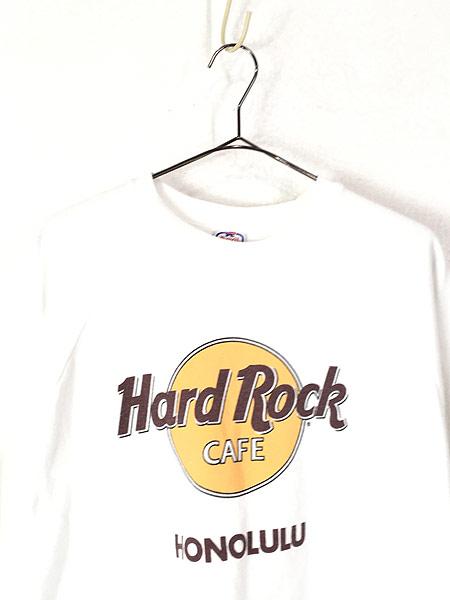 [2] 古着 90s USA製 Hard Rock Cafe ハードロックカフェ オールド スウェット トレーナー 白 XL 古着