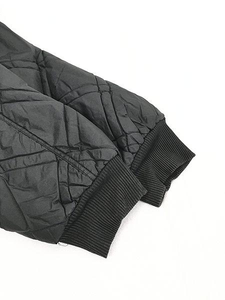 [4] 古着 90s NIKE BIG スウォッシュ キルティング リバーシブル ナイロン パデット ジャケット 黒 L 古着