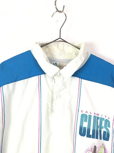 [2] 古着 90s adidas 「CALAMITY CLIFFS」 総柄 パデット プルオーバー ジャケット XXL位 古着