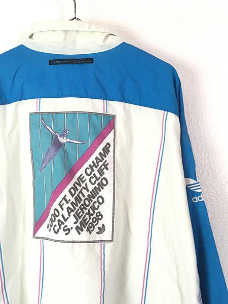 [5] 古着 90s adidas 「CALAMITY CLIFFS」 総柄 パデット プルオーバー ジャケット XXL位 古着