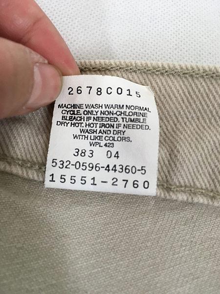 [8] 古着 90s USA製 Levi's 551 カラー デニム パンツ ジーンズ スーパーテーパード W30 L30 古着