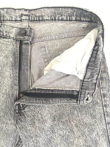 [7] 古着 90s USA製 Levi's 505 ブラック ケミカル デニム パンツ ジーンズ スリム W34 L31 古着