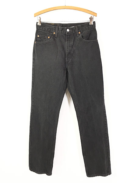[1] 古着 00s Levi's 505 スーパー ブラック デニム パンツ ジーンズ スリム W30 L30 古着