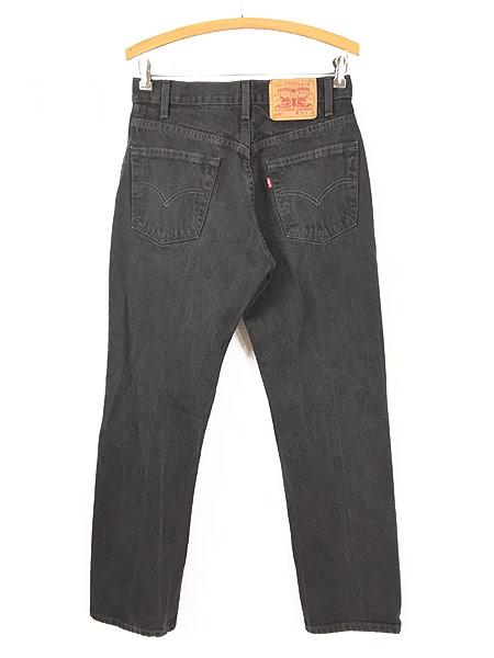 [3] 古着 00s Levi's 505 スーパー ブラック デニム パンツ ジーンズ スリム W30 L30 古着