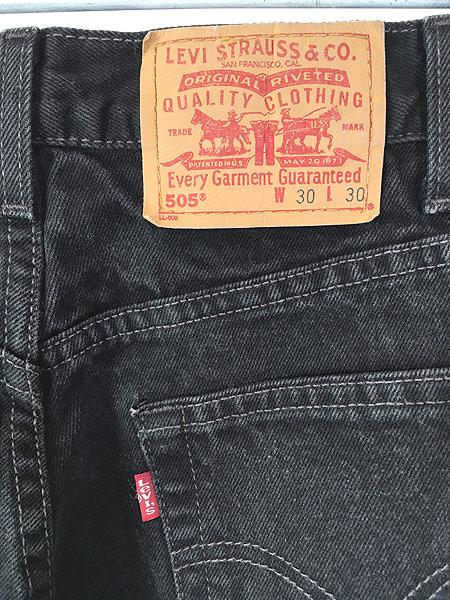 [4] 古着 00s Levi's 505 スーパー ブラック デニム パンツ ジーンズ スリム W30 L30 古着