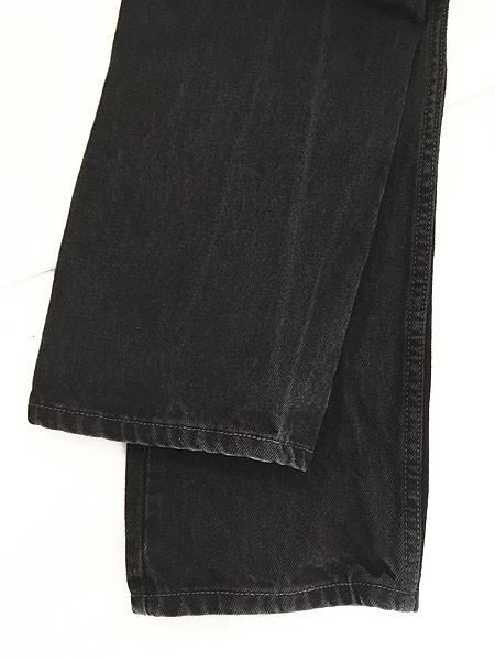 [5] 古着 00s Levi's 505 スーパー ブラック デニム パンツ ジーンズ スリム W30 L30 古着