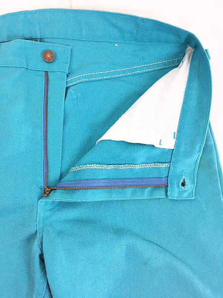 [7] 古着 80s USA製 Levi's 505-2815 白タブ コットンツイル カラー パンツ スリム W36 L32 古着