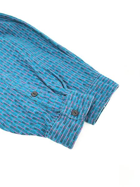 [4] 古着 80s USA製 Levi's Big 「E」 マルチ ストライプ オールド デザイン シャツ XL 古着