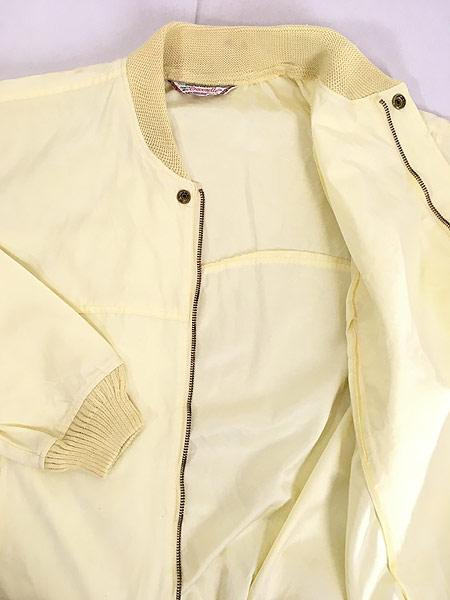[7] 古着 60s USA製 McGREGOR 「JUMBO」 防水 ダービー ドリズラー ジャケット ブルゾン イエロー 42 古着