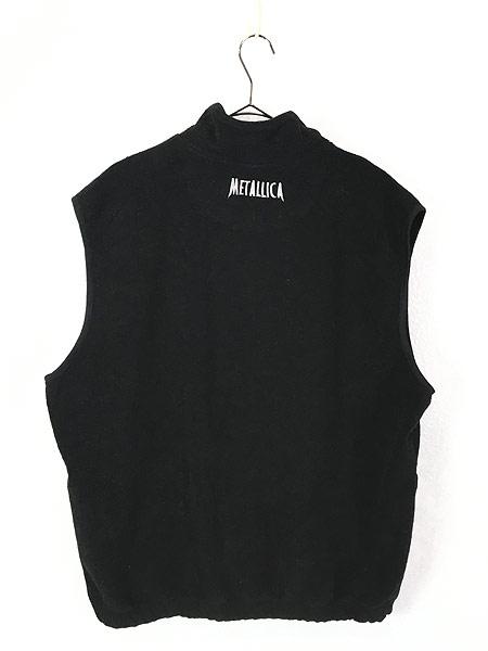 [3] 古着 90s METALLICA 「Load」 メタル ロック バンド フリース ベスト XL 古着