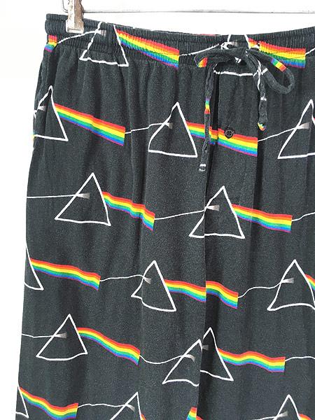 [2] 古着 00s Pink Floyd ピンクフロイド 「狂気」 ロック バンド イージー パジャマ パンツ L 古着