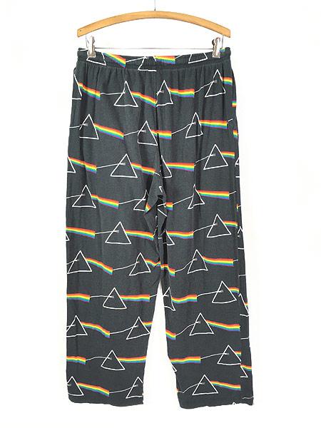 [3] 古着 00s Pink Floyd ピンクフロイド 「狂気」 ロック バンド イージー パジャマ パンツ L 古着