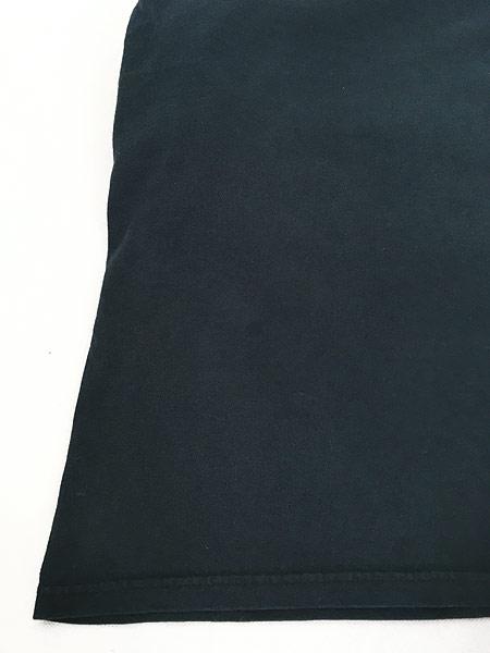 [5] 古着 00s サル モンキー アニマル アート パターン ロング Tシャツ ロンT カットソー 黒 L 古着