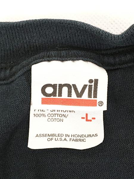 [6] 古着 00s サル モンキー アニマル アート パターン ロング Tシャツ ロンT カットソー 黒 L 古着