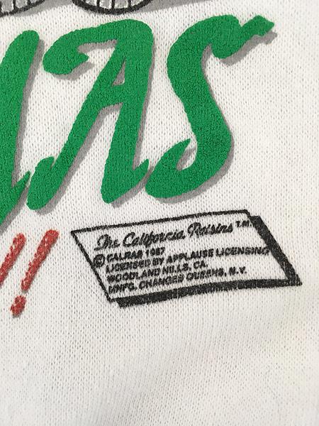 [6] 古着 80s USA製 California Raisins 「MERRY CHRISMAS」 クリスマス キャラクター スウェット M 古着