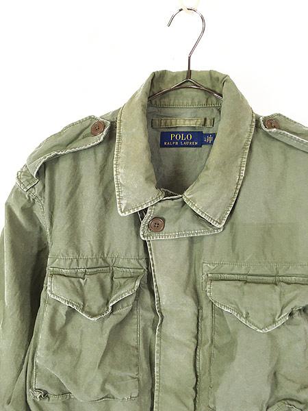 [2] 古着 POLO Ralph Lauren ラルフ US ARMY M-51 タイプ ミリタリー フィールド ジャケット L 古着