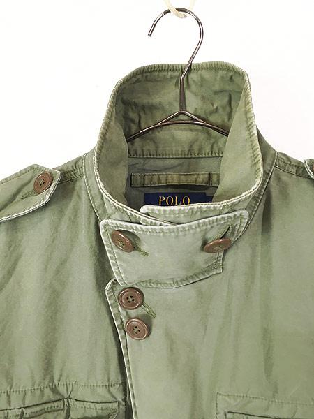 [3] 古着 POLO Ralph Lauren ラルフ US ARMY M-51 タイプ ミリタリー フィールド ジャケット L 古着