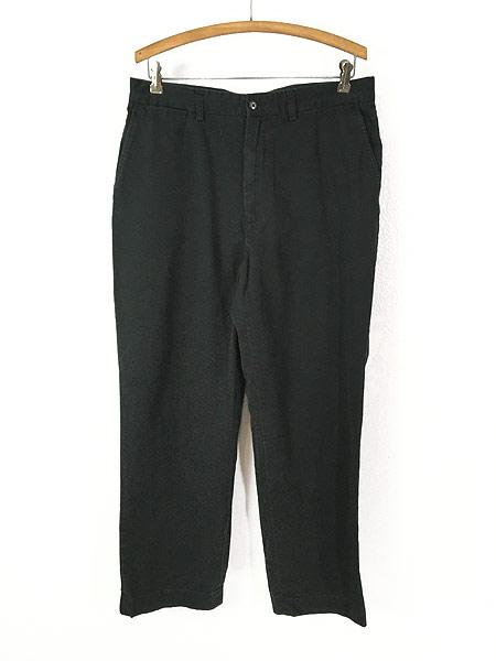 [1] 古着 POLO Ralph Lauren 「PROSPECT」 クラシック チノ パンツ チノパン ストレート 黒 W35 L29 古着