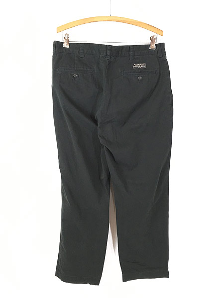[2] 古着 POLO Ralph Lauren 「PROSPECT」 クラシック チノ パンツ チノパン ストレート 黒 W35 L29 古着