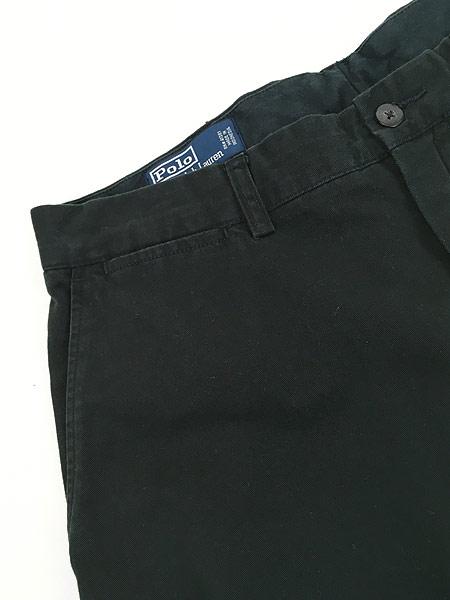 [3] 古着 POLO Ralph Lauren 「PROSPECT」 クラシック チノ パンツ チノパン ストレート 黒 W35 L29 古着