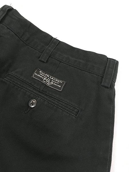 [6] 古着 POLO Ralph Lauren 「PROSPECT」 クラシック チノ パンツ チノパン ストレート 黒 W35 L29 古着