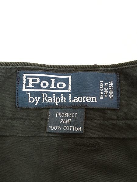 [7] 古着 POLO Ralph Lauren 「PROSPECT」 クラシック チノ パンツ チノパン ストレート 黒 W35 L29 古着