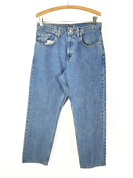 [1] 古着 POLO JEANS Ralph Lauren 5ポケット デニム パンツ ジーンズ 太ストレート W32 L29.5 古着