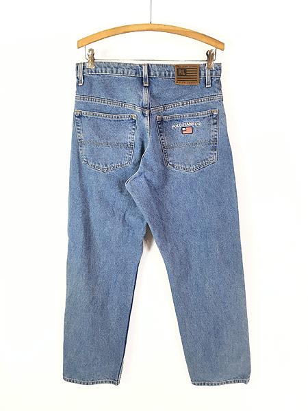 [2] 古着 POLO JEANS Ralph Lauren 5ポケット デニム パンツ ジーンズ 太ストレート W32 L29.5 古着