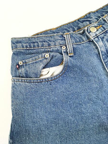 [3] 古着 POLO JEANS Ralph Lauren 5ポケット デニム パンツ ジーンズ 太ストレート W32 L29.5 古着
