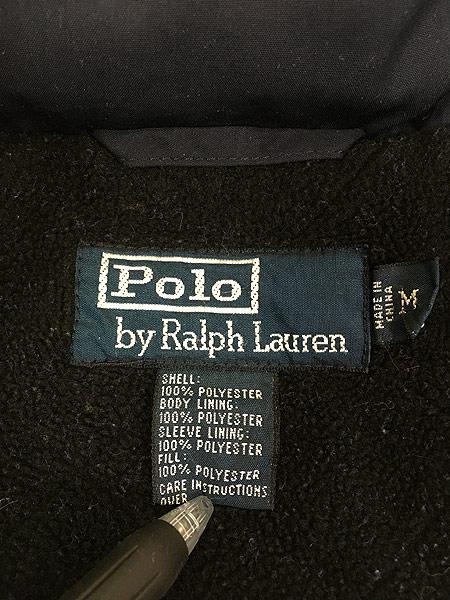 [8] 古着 POLO Ralph Lauren ラルフ 裏地フリース 2way パデット シェル ジャケット ブルゾン M 古着