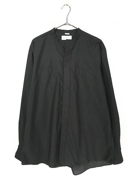[1] 古着 80s USA製 CM ALMY 比翼 バンドカラー ブラック ドレス シャツ 16 1/2 古着
