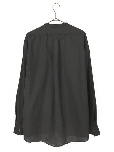 [3] 古着 80s USA製 CM ALMY 比翼 バンドカラー ブラック ドレス シャツ 16 1/2 古着